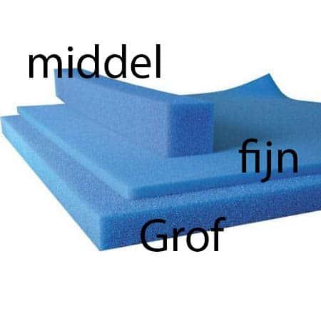 Blauw filterschuim grof