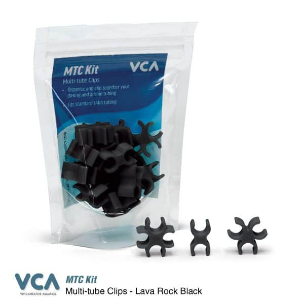 VCA Multi Tube clips Lava Rock Black